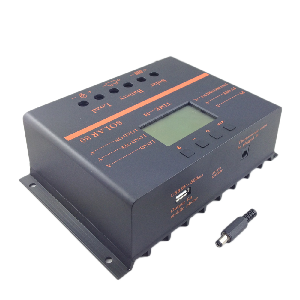 Solar80 80a Solar Charge Controller Usb Mobile Phone