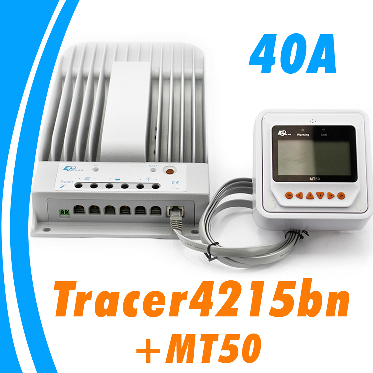 40a Mppt Solar Charge Controller With Intelligent Lighting