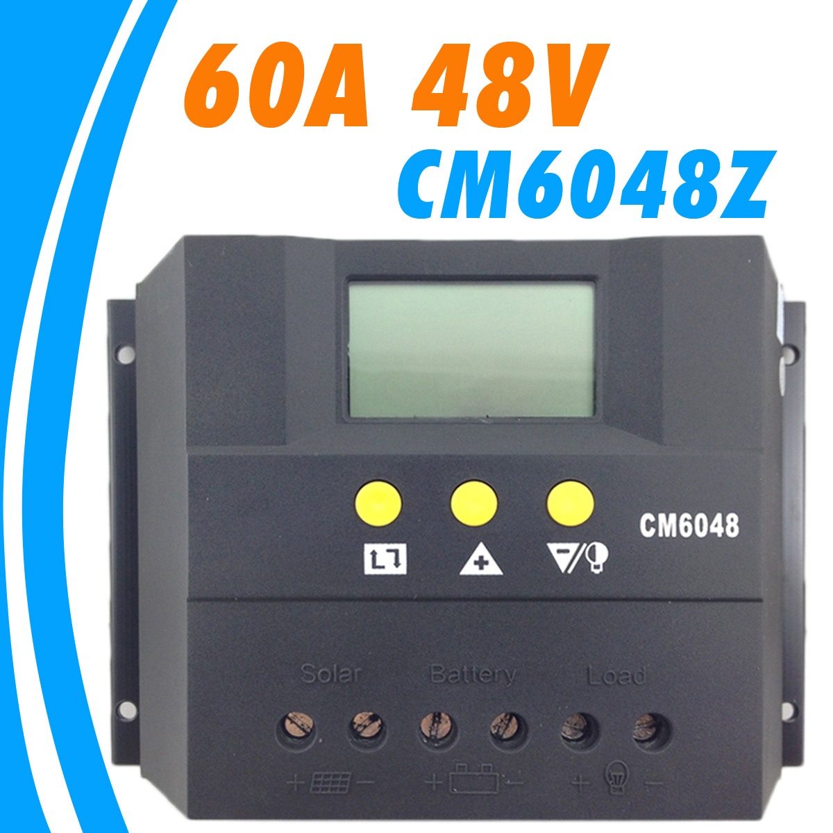 Cm6048z 60a 48v Solar Charge Controller Lcd Display Digital Pwm Missouri Wind And
